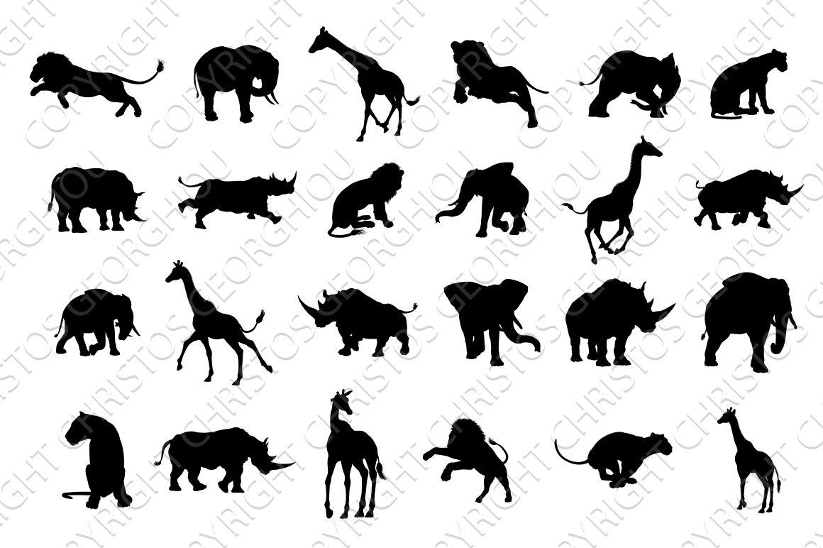 picture of safari animals african safari animals silhouettes illustrations picture safari of animals