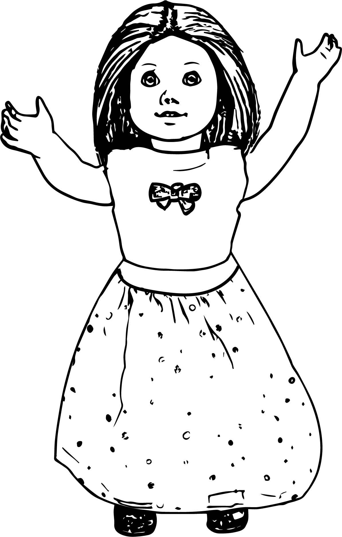 pictures of american girl dolls to color american girl coloring pages kit at getcoloringscom of american dolls pictures girl color to