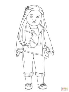 pictures of american girl dolls to color american girl saige coloring page free printable of girl american dolls to color pictures