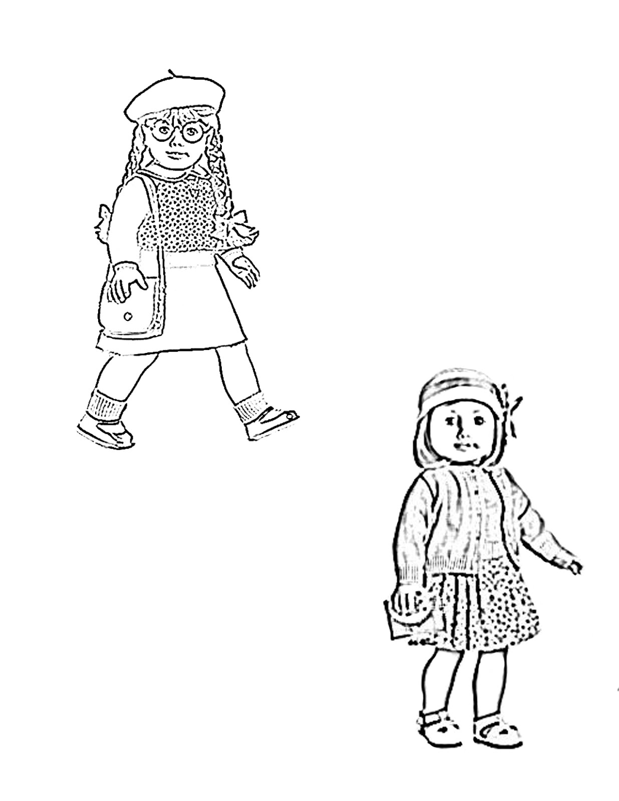 pictures of american girl dolls to color pin on colorings dolls to pictures color girl of american