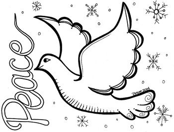 pictures of doves to color dove coloring page cakes pinterest of to pictures color doves