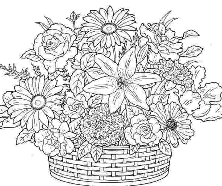 pictures of flowers to print and colour free printable flower coloring pages for kids best pictures of colour print and to flowers