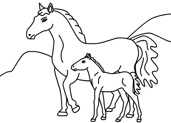 pictures of horses to color and print animals coloring pages yue horse coloring page animals pictures horses print color of to and