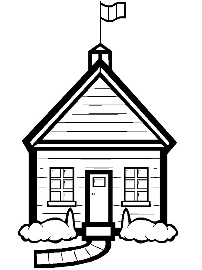 pictures of houses to color coloring pages for kids big house with swimming pool to of color houses pictures