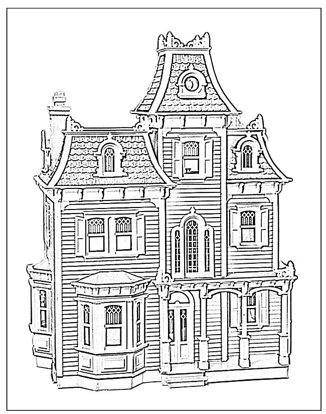 pictures of houses to color free printable house coloring pages for kids houses of pictures color to