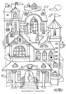 pictures of houses to color printable halloween coloring pages printable halloween to houses of color pictures