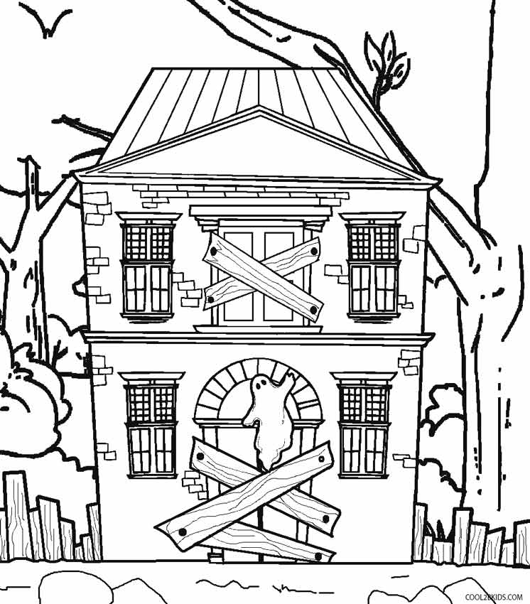pictures of houses to color printable haunted house coloring pages for kids cool2bkids color houses pictures of to