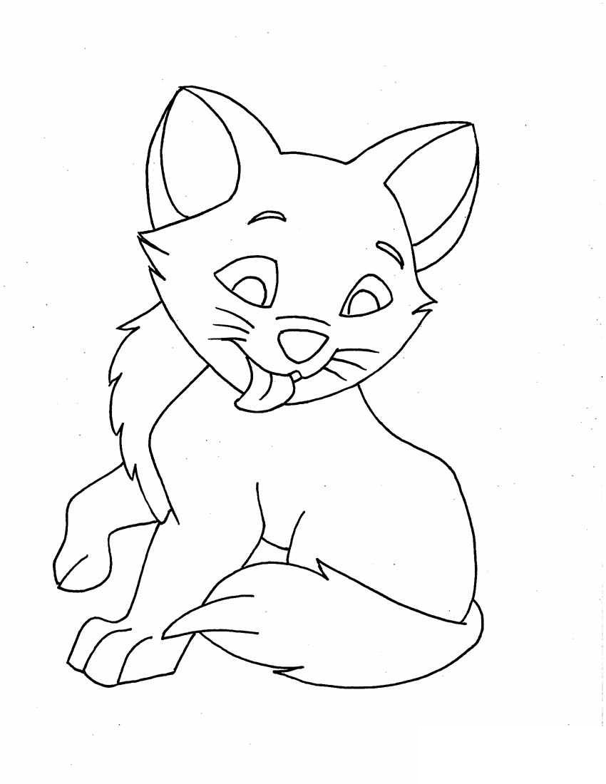 pictures of kittens to color free printable kitten coloring pages for kids best color pictures to of kittens