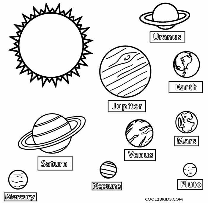 pictures of planets to color solar system planets drawing at getdrawings free download of pictures planets color to