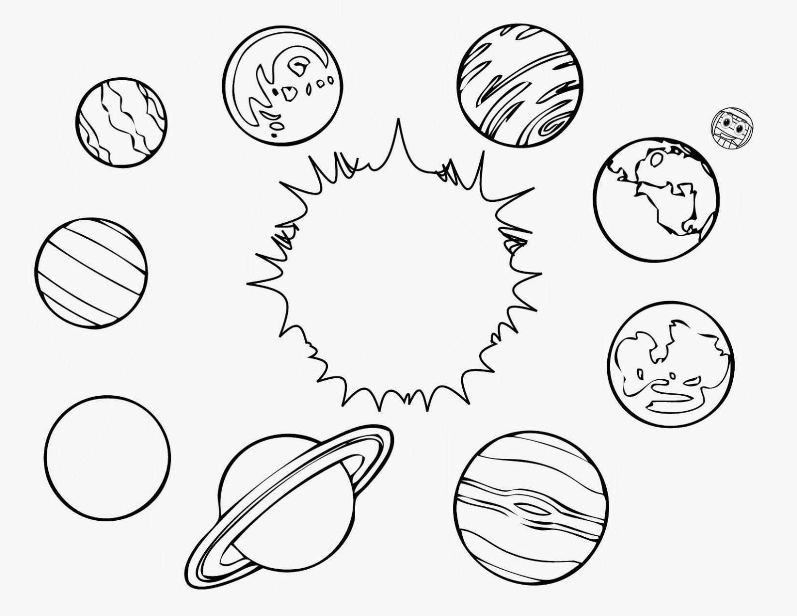 pictures of planets to color the planets in solar system coloring pages page 4 pics pictures planets color to of