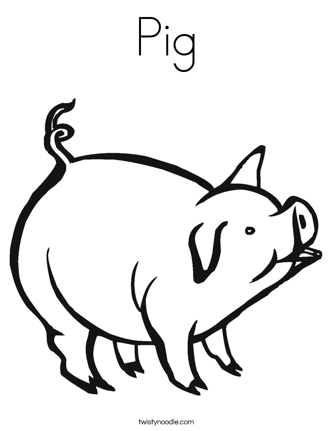 pig to colour coloring picture of animals for kids to colour pig
