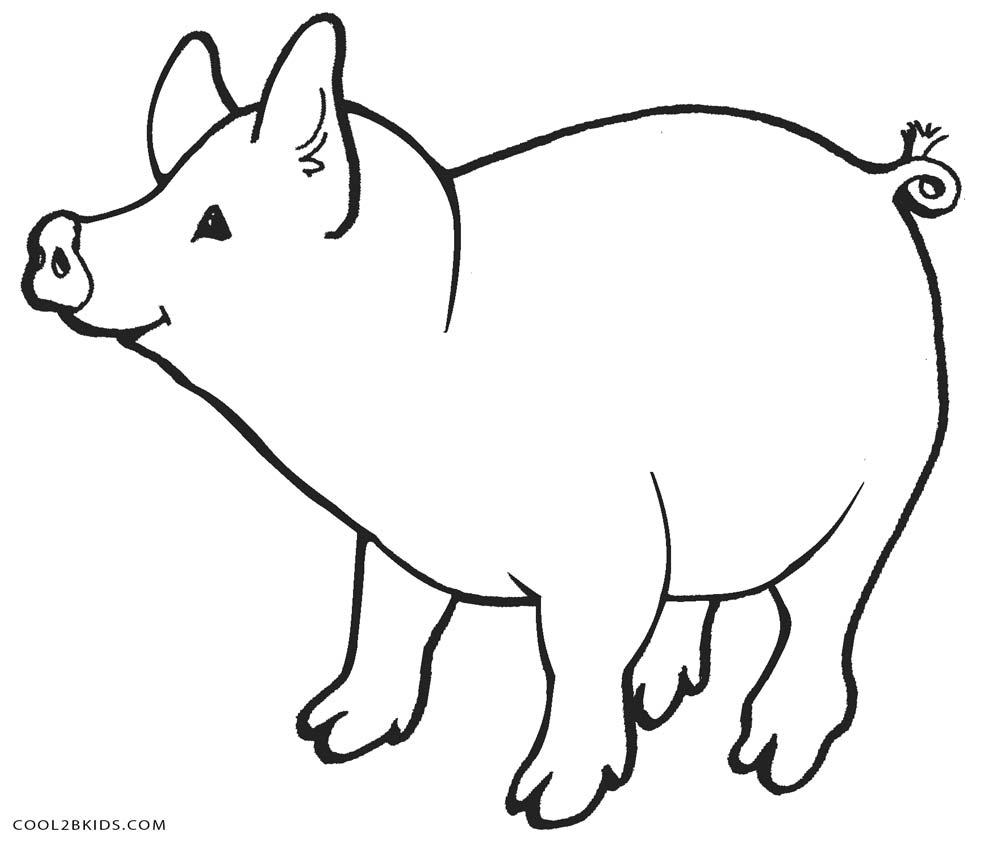 pig to colour free printable pig coloring pages for kids cool2bkids to colour pig