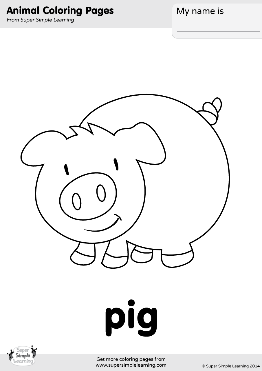 pig to colour pig coloring page free coloring pages and coloring books colour pig to