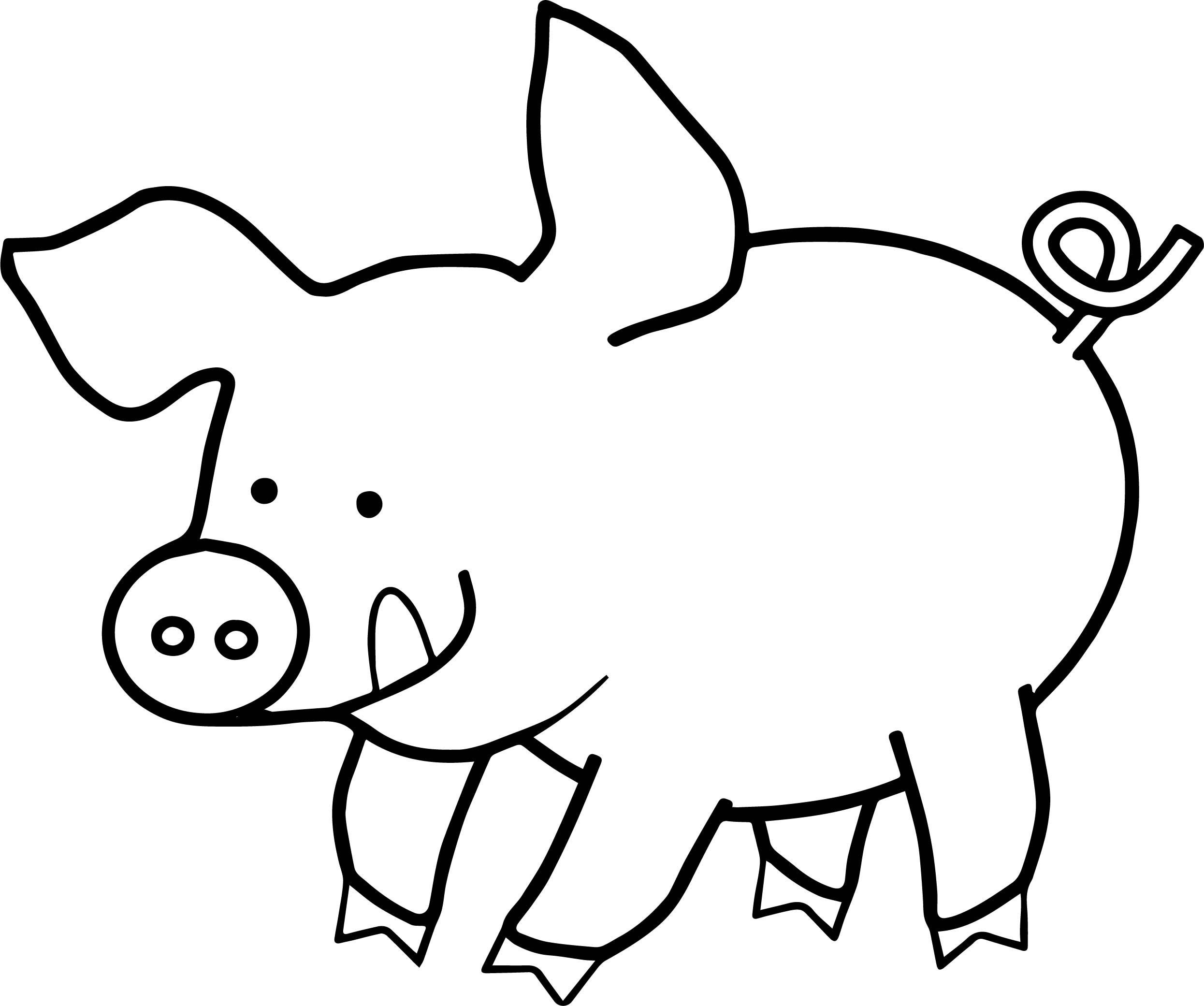 pig to colour pig coloring page of smiling fat pig coloring pages pig colour to