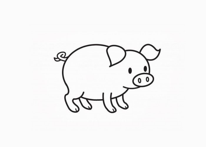 pig to colour pig smells something coloring page free printable colour to pig