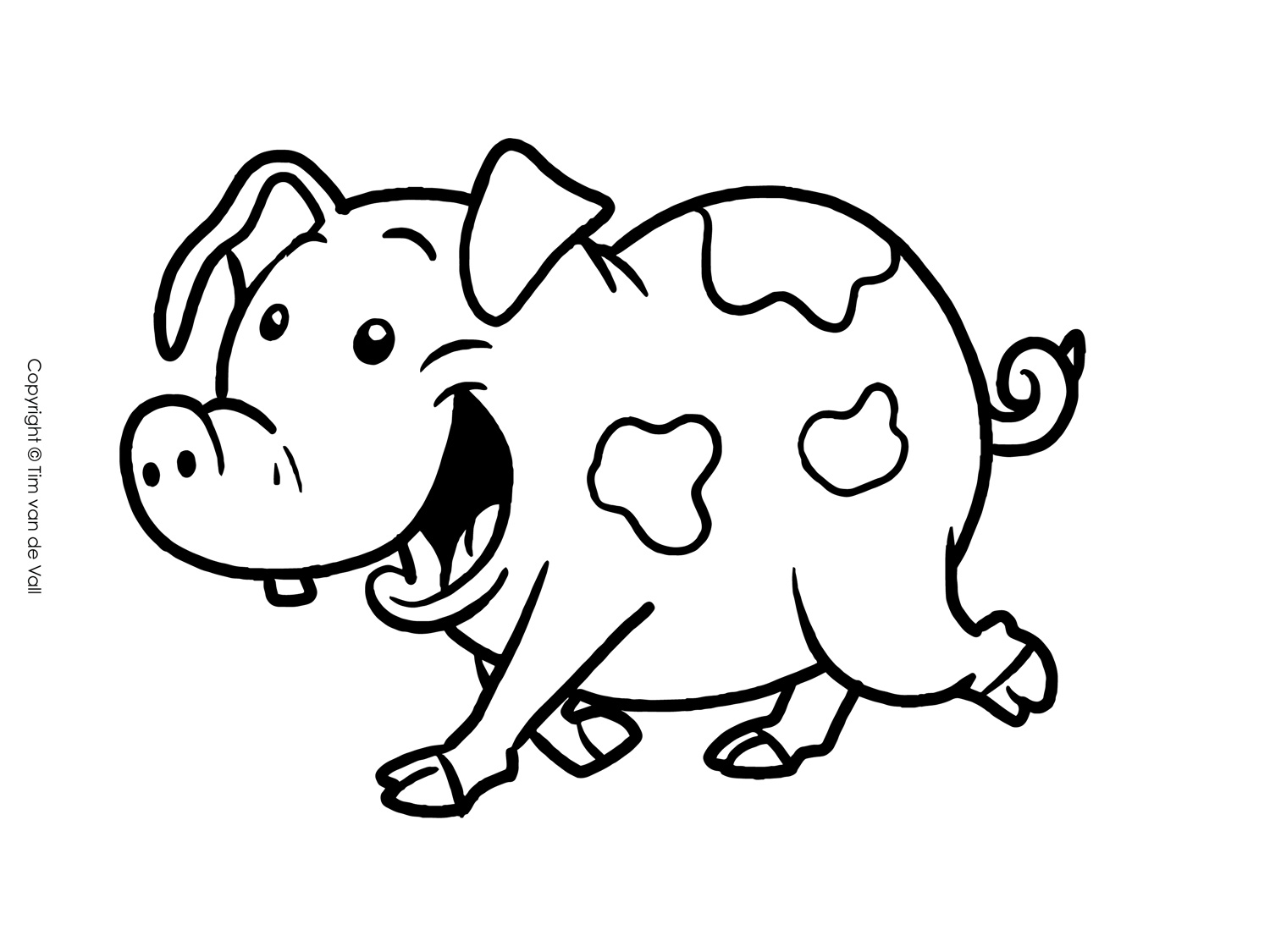 pig to colour three little pigs coloring pages the three little pigs story pig colour to