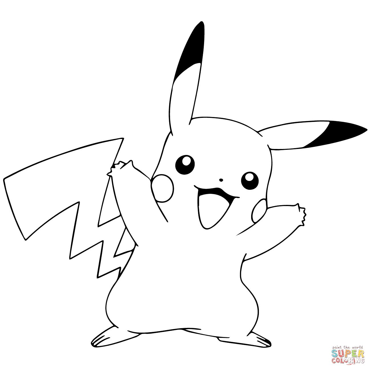 pikachu coloring page pokemon coloring pages pikachu part 6 free resource pikachu page coloring
