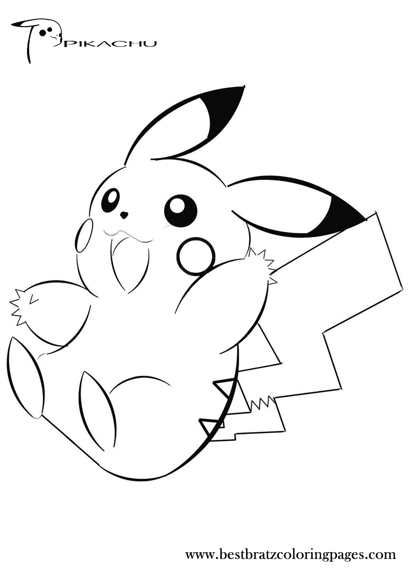 pikachu to color free printable pikachu coloring pages for kids pikachu color to