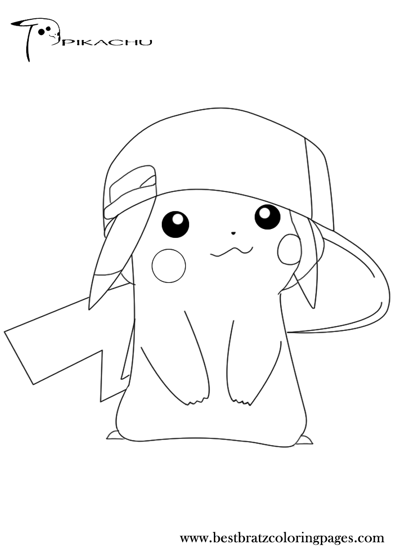 pikachu to color pikachu and satoshi quot pokemon quot coloring pages to pikachu color