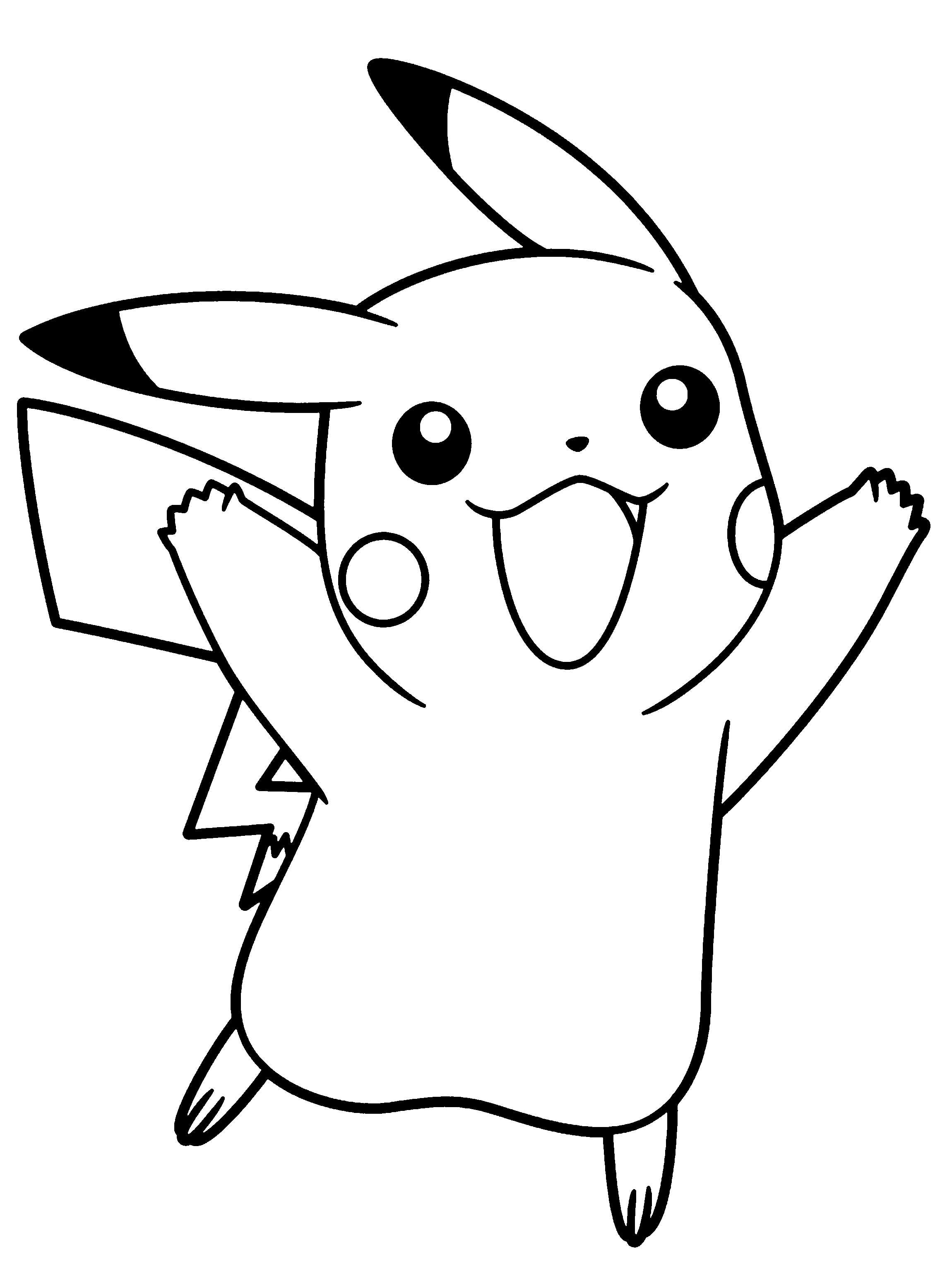 pikachu to color pikachu coloring pages color to pikachu
