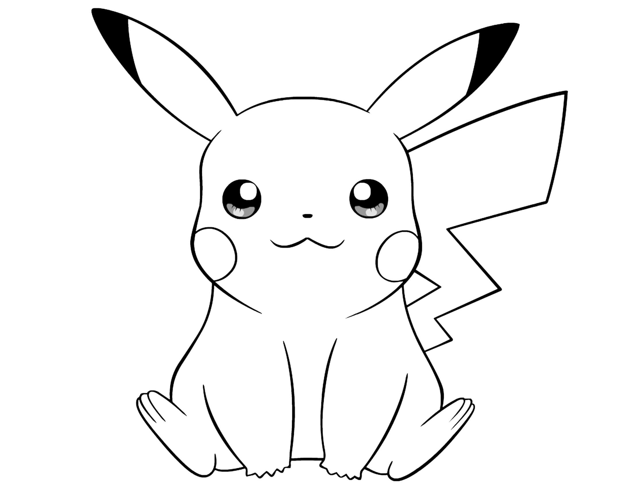 pikachu to color pikachu coloring pages to download and print for free color pikachu to