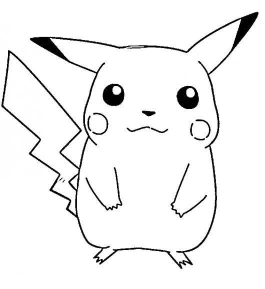 pikachu to color pikachu pokemon coloring pages getcoloringpagescom color pikachu to