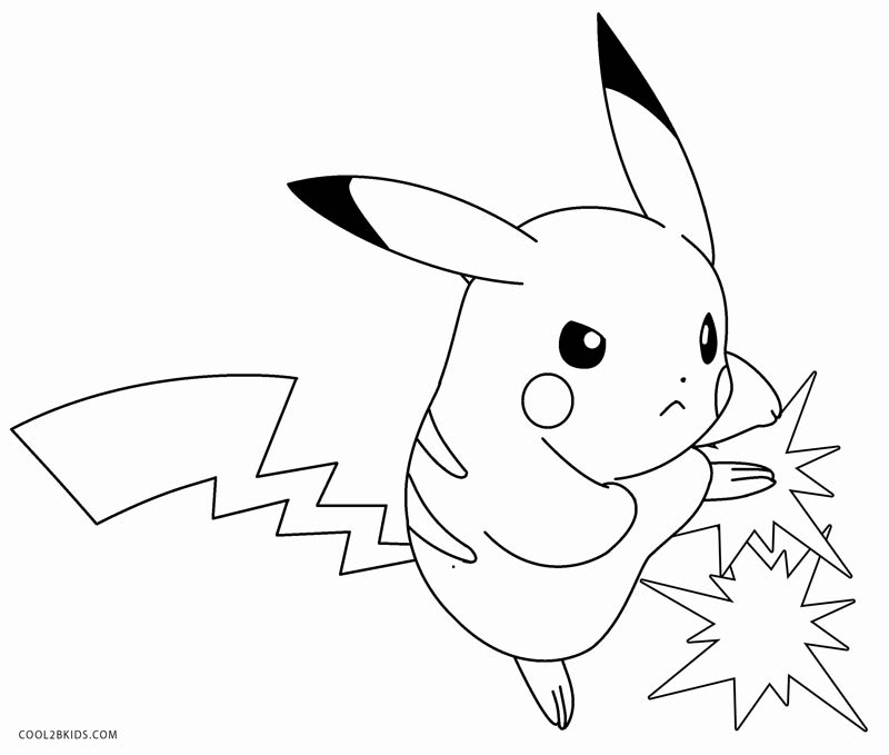 pikachu to color printable pikachu coloring pages for kids cool2bkids pikachu to color