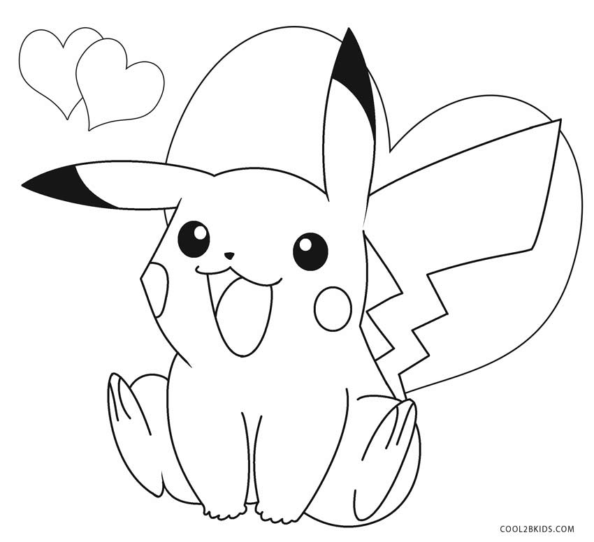 pikachu to color printable pikachu coloring pages for kids cool2bkids to color pikachu