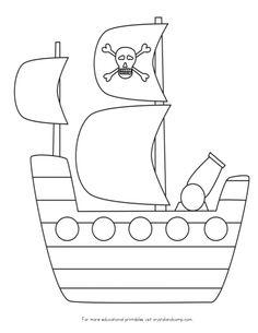 pirate ship template printable gingerbread pirates printables template ship pirate printable