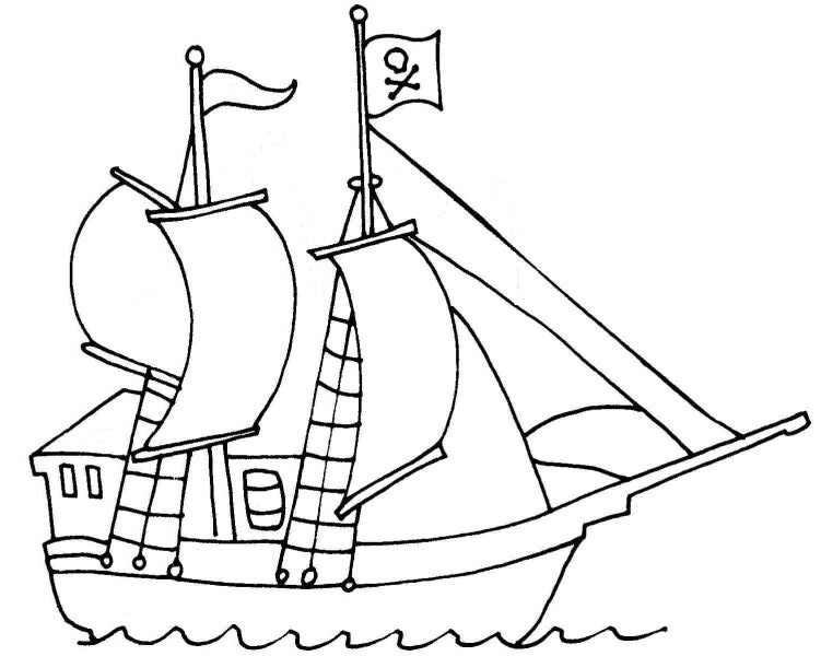 pirate ship template printable relive your childhood free printable coloring pages for printable template pirate ship