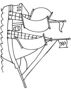 pirate ship template printable simple pirate ship coloring sheet printable pirate ship template