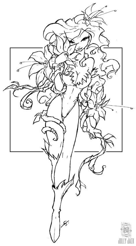 poison ivy colouring pages poison ivy coloring pages adult deviantart more like poison colouring ivy pages