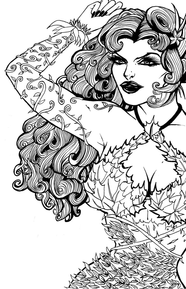 poison ivy colouring pages stilrankcreasob poison ivy batman cartoon colouring poison ivy pages