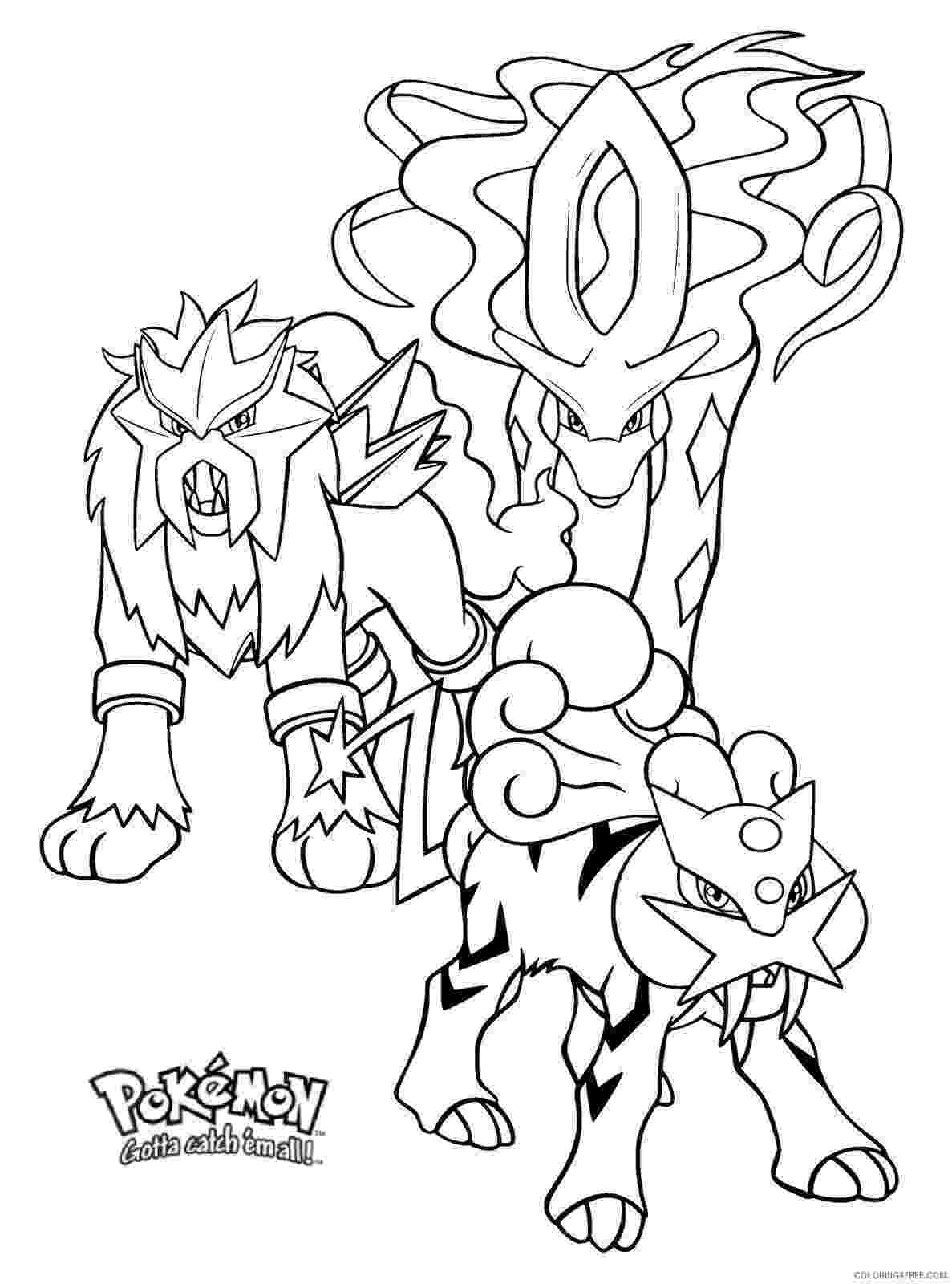 pokemon coloring pages legendary dogs pokemon entei coloring pages from the thousands of pages pokemon legendary coloring dogs