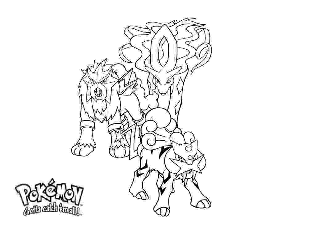 pokemon coloring pages legendary dogs simple pokemon coloring pages legendary dogs to print coloring legendary dogs pokemon pages