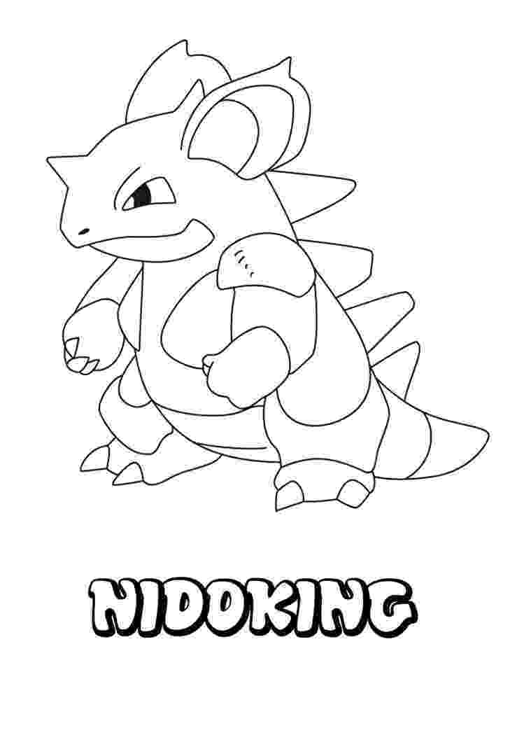 pokemon to color nidoking coloring pages hellokidscom color to pokemon