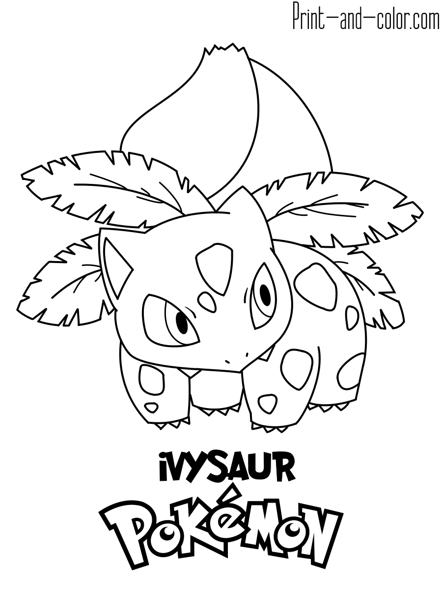 pokemon to color pokemon coloring pages print and colorcom pokemon color to