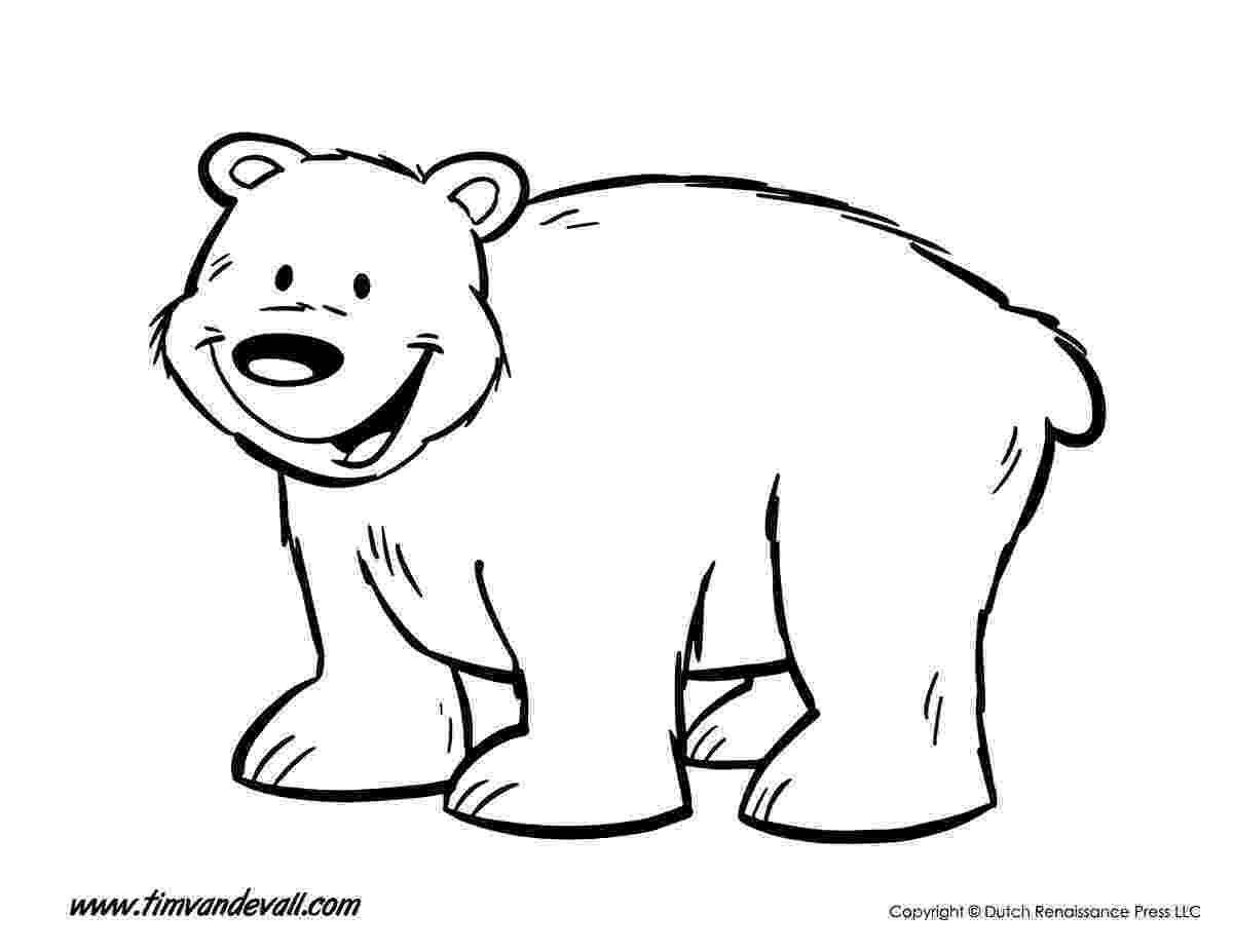polar bear printables bear coloring page tim39s printables polar bear printables