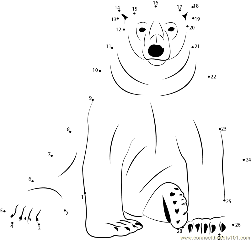 polar bear printables free coloring pages of bear dot to dot bear coloring pages polar bear printables