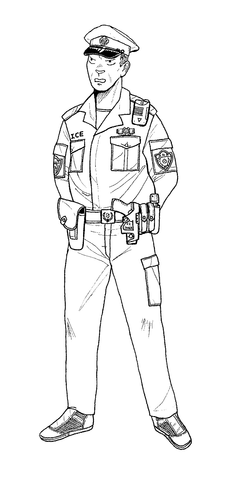 police coloring pages free printable policeman coloring pages for kids police pages coloring