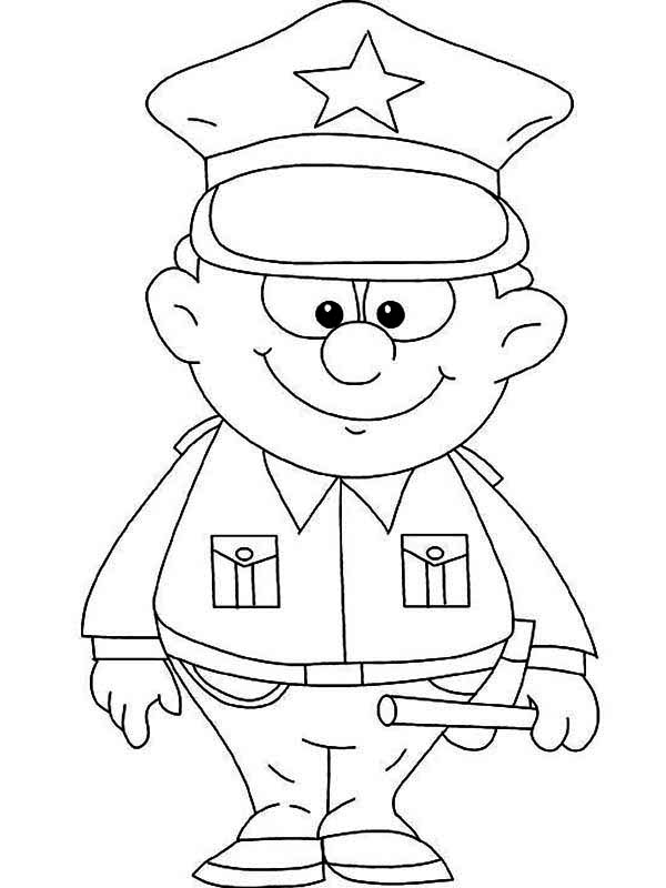 police coloring pages police officer drawing at getdrawingscom free for coloring pages police