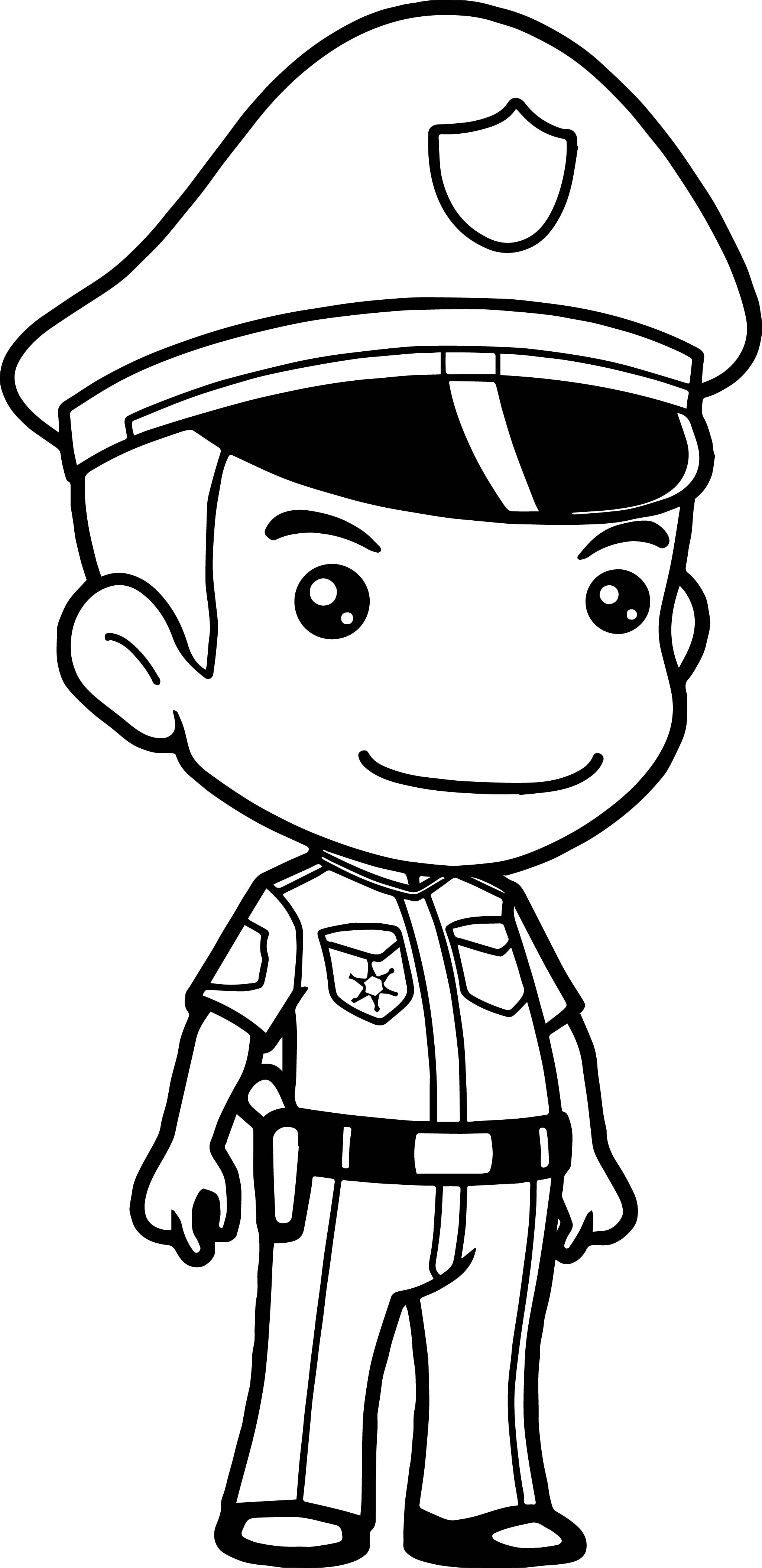 police officer coloring pictures cop hat drawing at getdrawingscom free for personal use pictures officer coloring police