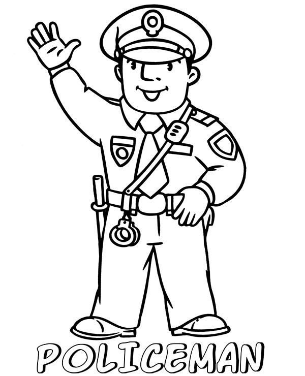 police officer coloring pictures easy policeman coloring page topcoloringpagesnet officer pictures coloring police