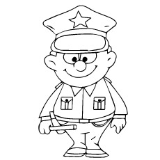 police officer coloring pictures police drawing at getdrawingscom free for personal use pictures coloring police officer