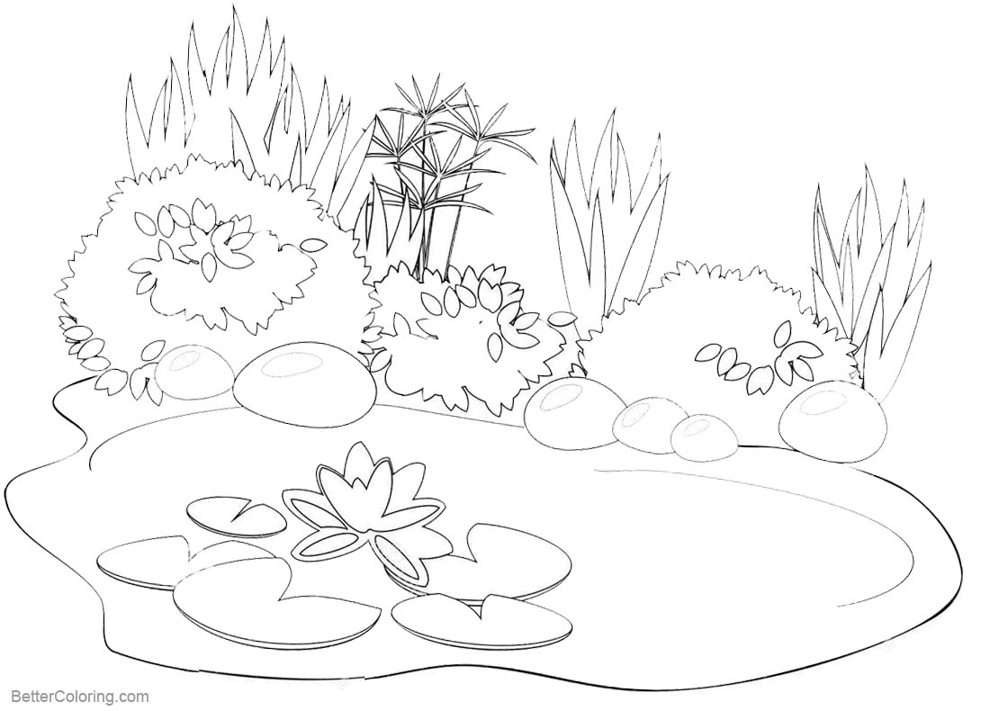 pond coloring pages pond coloring pages black and white drawing free pond coloring pages
