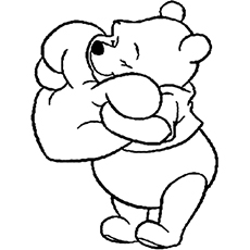 pooh bear coloring pictures pooh bear and tigger back to back coloring page h m pooh bear pictures coloring