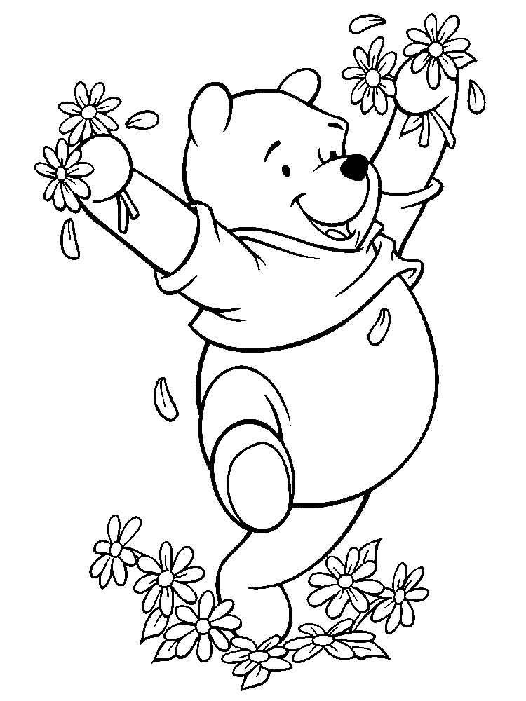 pooh bear coloring pictures pooh bear coloring pages free printable pooh bear coloring bear pooh pictures