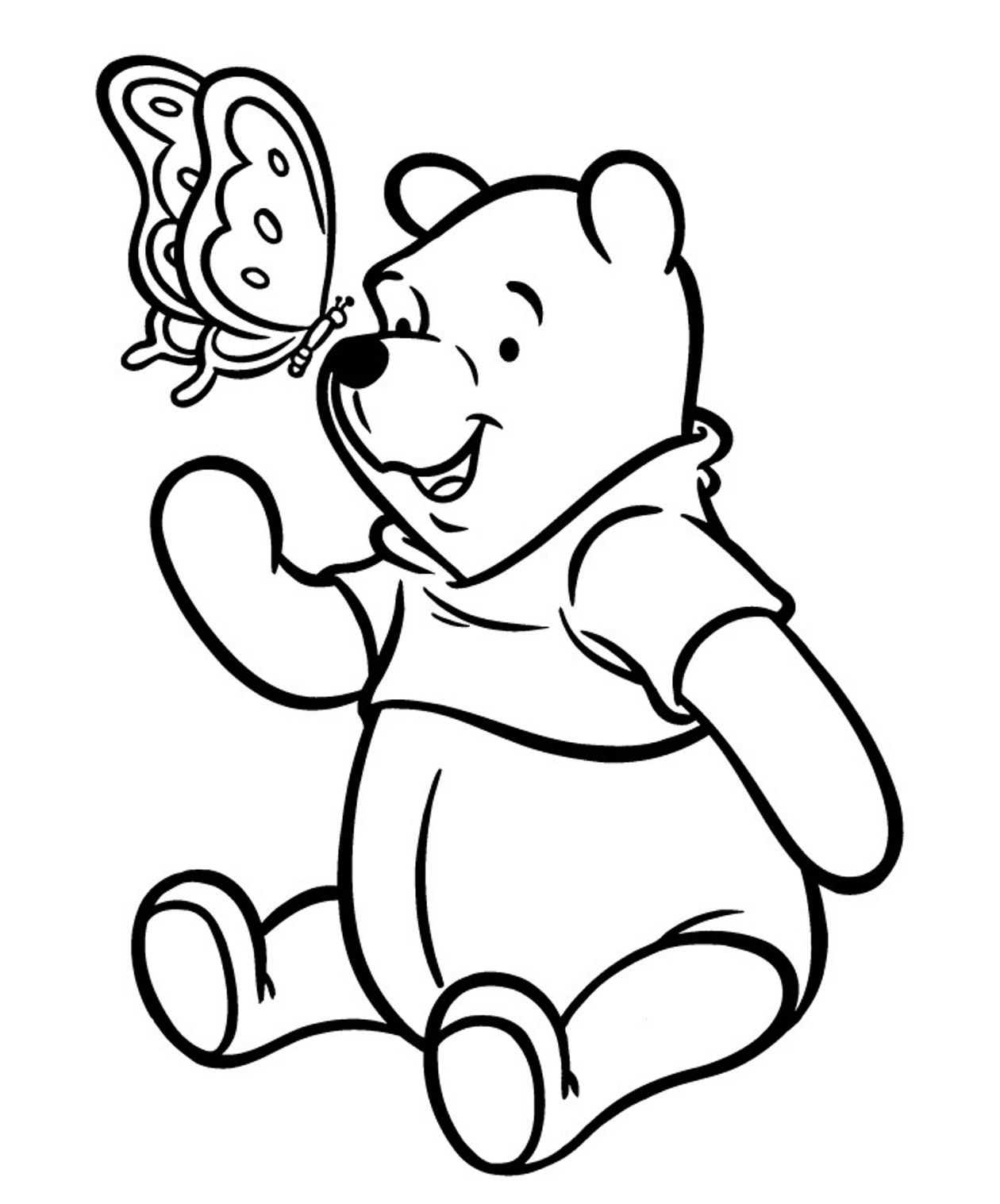 pooh bear coloring pictures winnie the pooh bear relaxing coloring page h m coloring pictures bear pooh