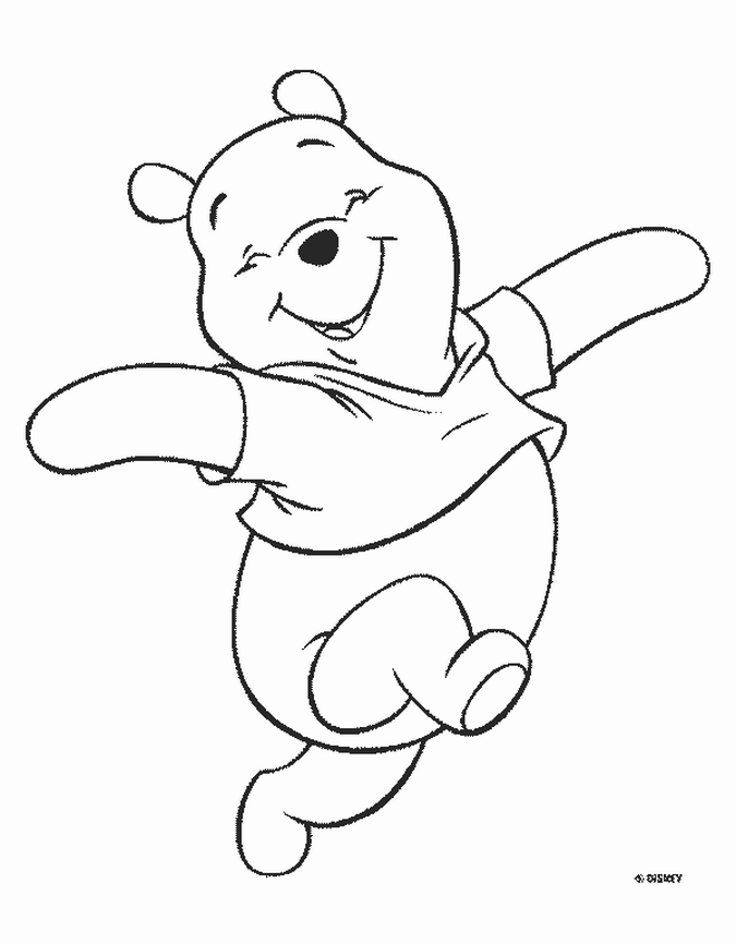 pooh color bear coloring pages winnie the pooh bear having tea pooh color