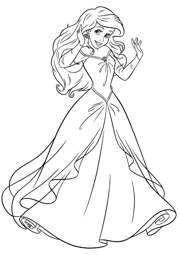 princess coloring page disney princess mermaid coloring pages page princess coloring